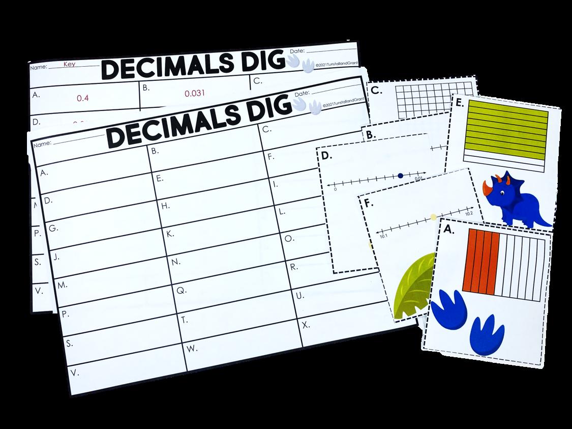 5th Grade Decimals Centers