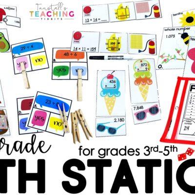 Math Stations for Upper Grades
