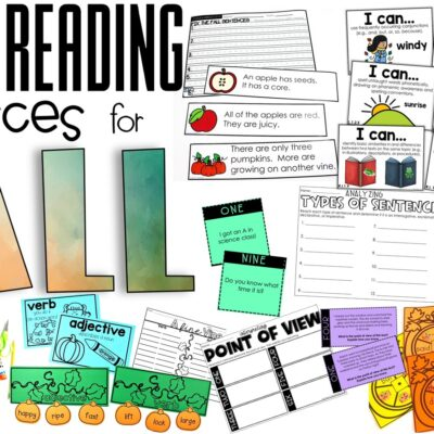 Guided Reading Resources for Fall
