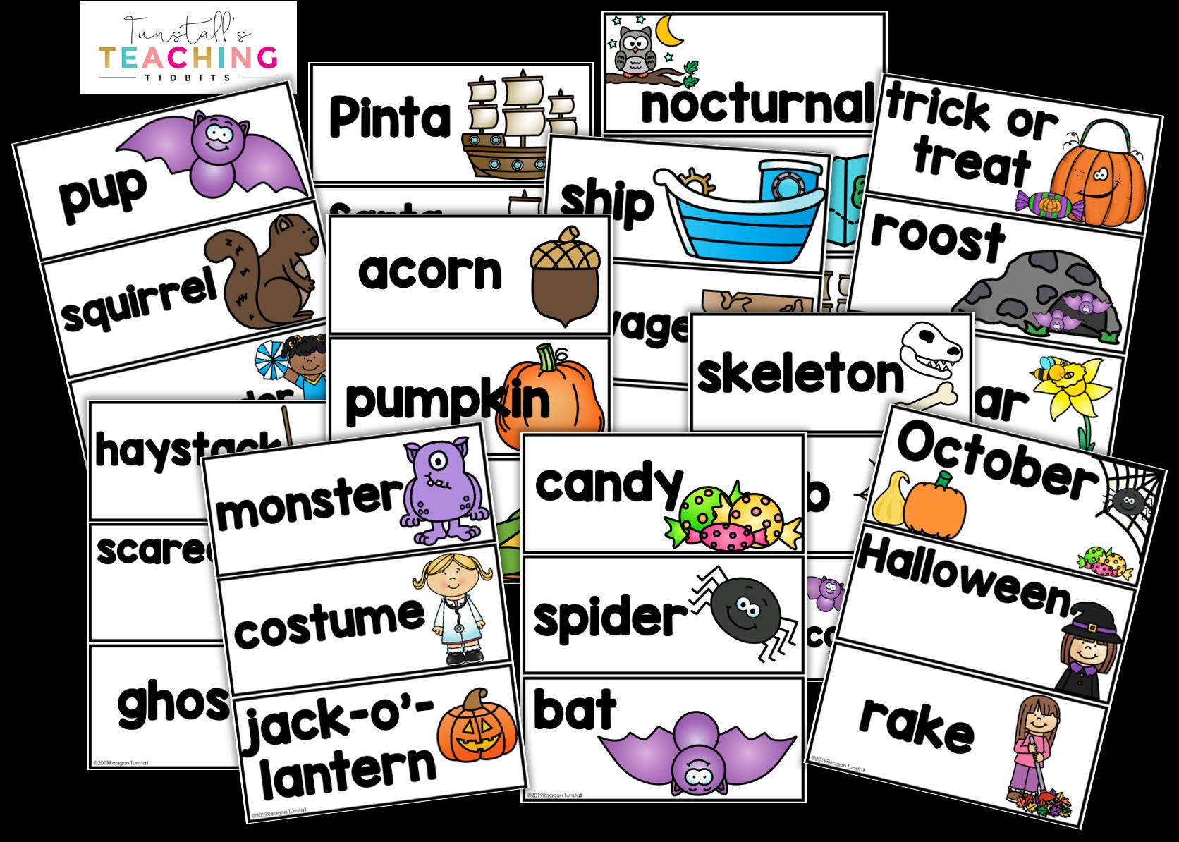 Fall Resources Vocabulary